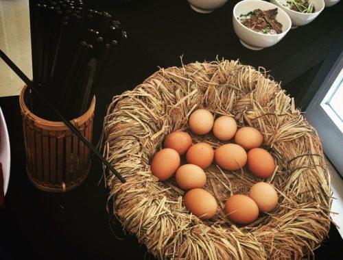 Bom dia com o jeito sempre fofo e delicado vietnamita de apresentar tudo. E lembrando que ovos (caipiras / orgânicos) no café da manhã são sempre uma boa pedida.  #Vietnã #mexerpanelaconhecendogente #gostodevietna #gostodemundo